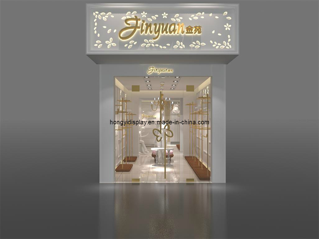 Shopfront Display with Wooden Veneer, Window Display