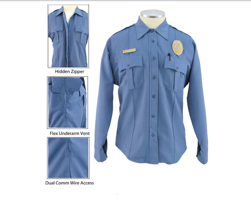 Workwear White Comfortable Security Guard Shirt
