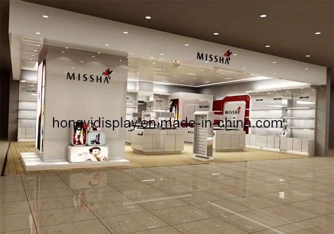 Shopfront Display with Wooden Veneer, Window Display