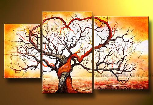 Modern Landscape Tree Oil Painting Canvas Art Work (LA3-081)