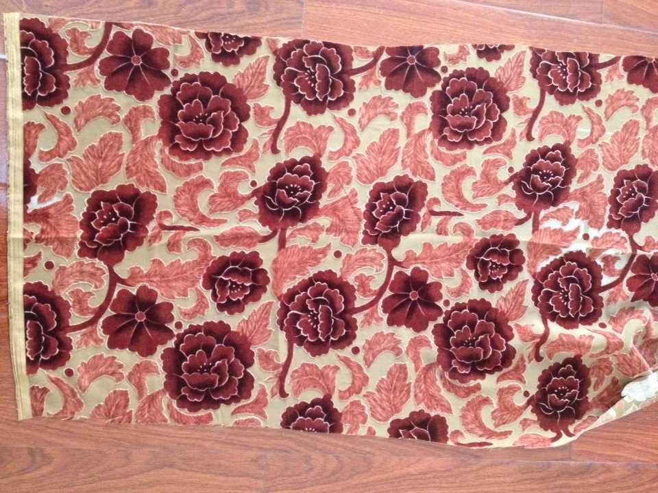 Burnout Printed Woven Fabric/Textile (RTBP003)