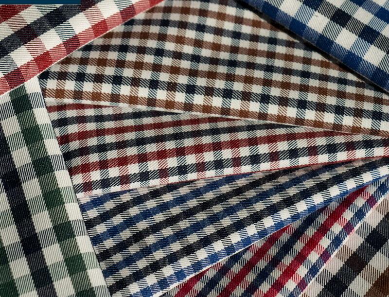 2mm & 4mm Checks Classical Pattern Shirting Fabric