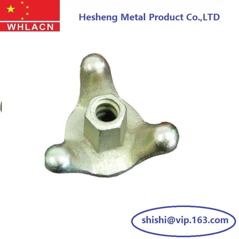 Construction Hardware Casting Formwork Three Claws Tie Nuts