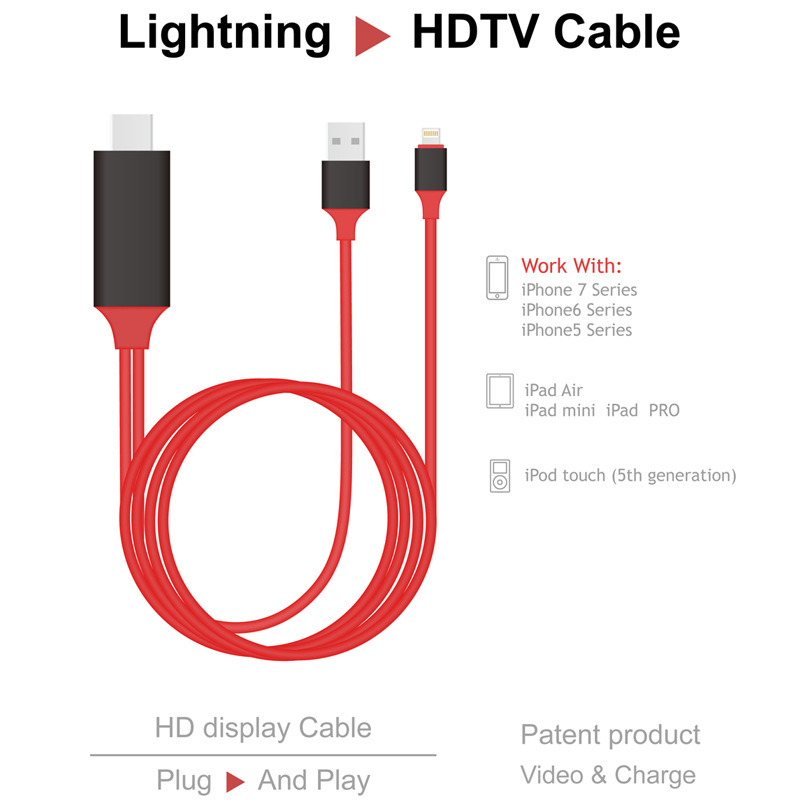 New 8pin Lightning Mhl Cable for iPhone 6s