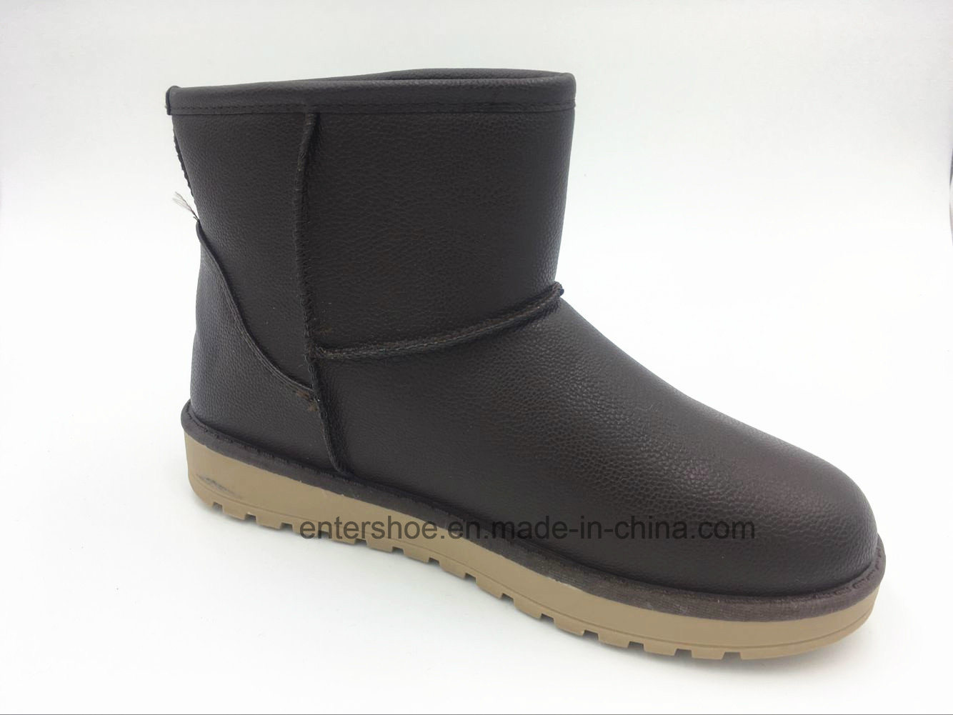 Winter Warm Women PU Snow Boots with PVC Outsole (ET-XK160238W)