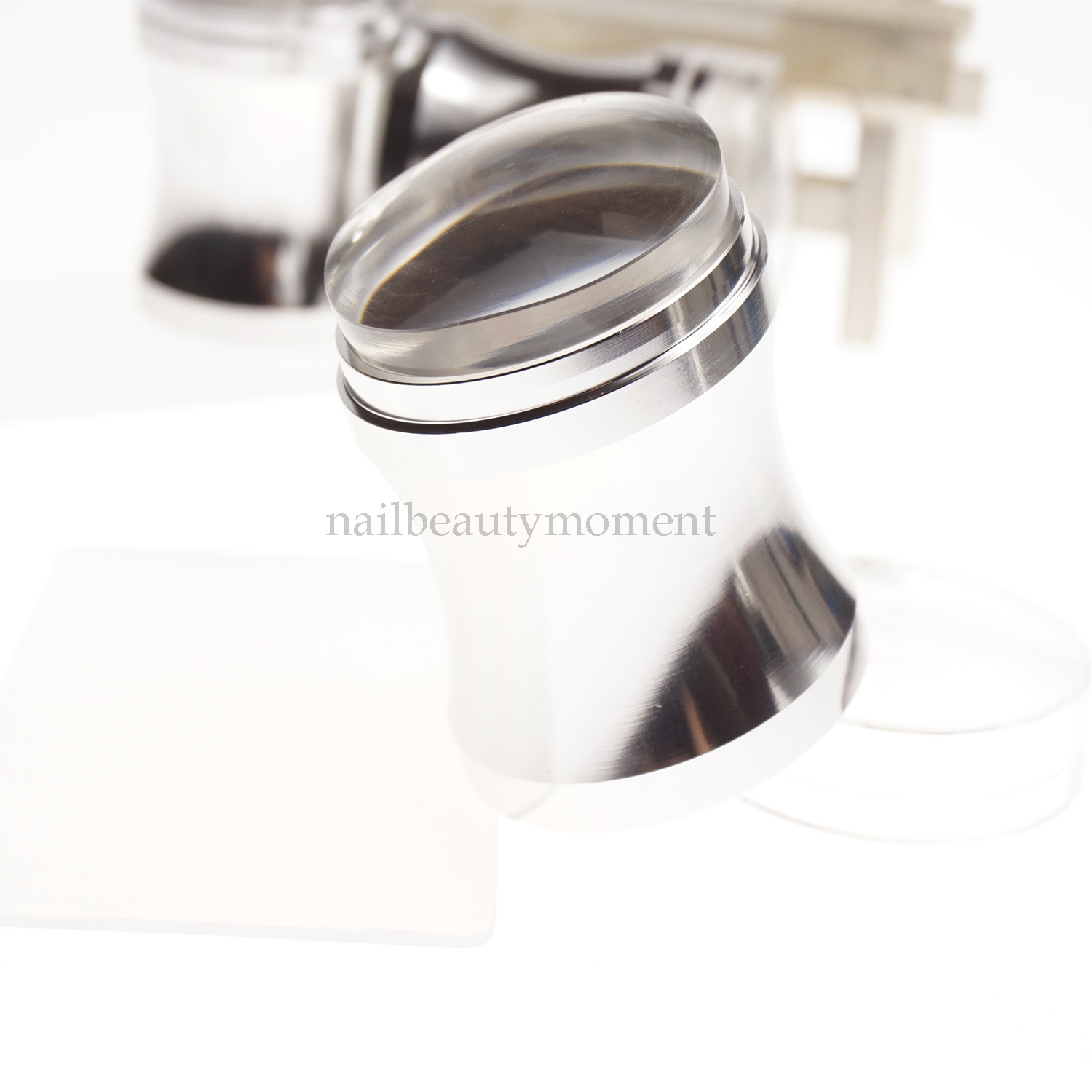 Metal Nail Art Jelly Stamper Silicone Beauty Tool Set (SNA23)