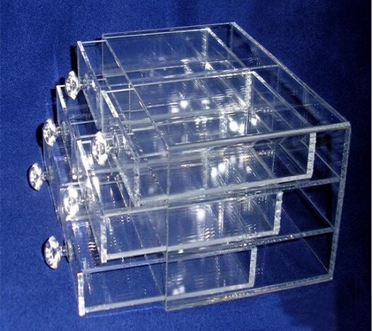 Clear Crystal Compartmental Box for Storage