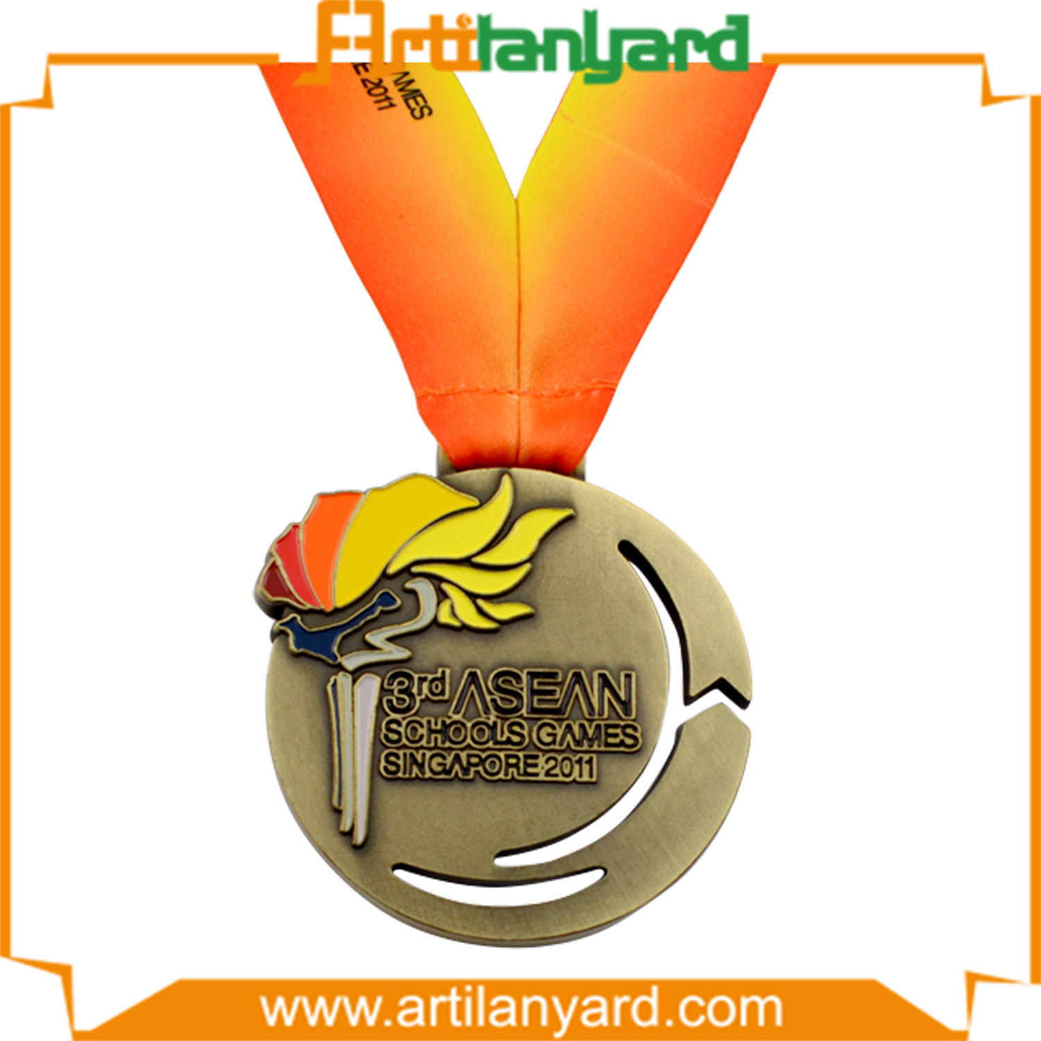 Customer Design Sports Metal Medal with Different Plating