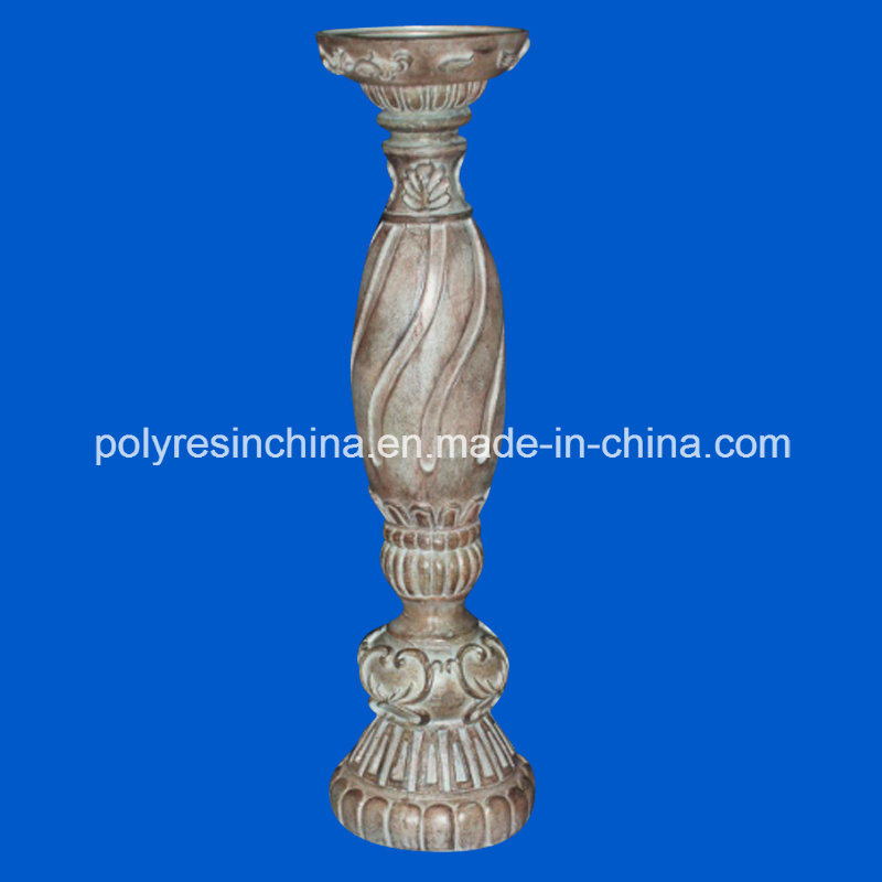 Polyresin Wood Look Candle Holder