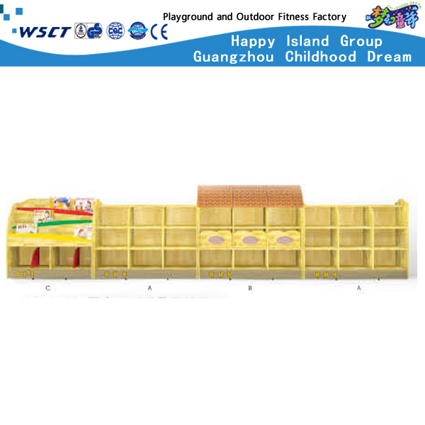 Simple and Practical Wooden Storage Box for Kids (HC-3103)