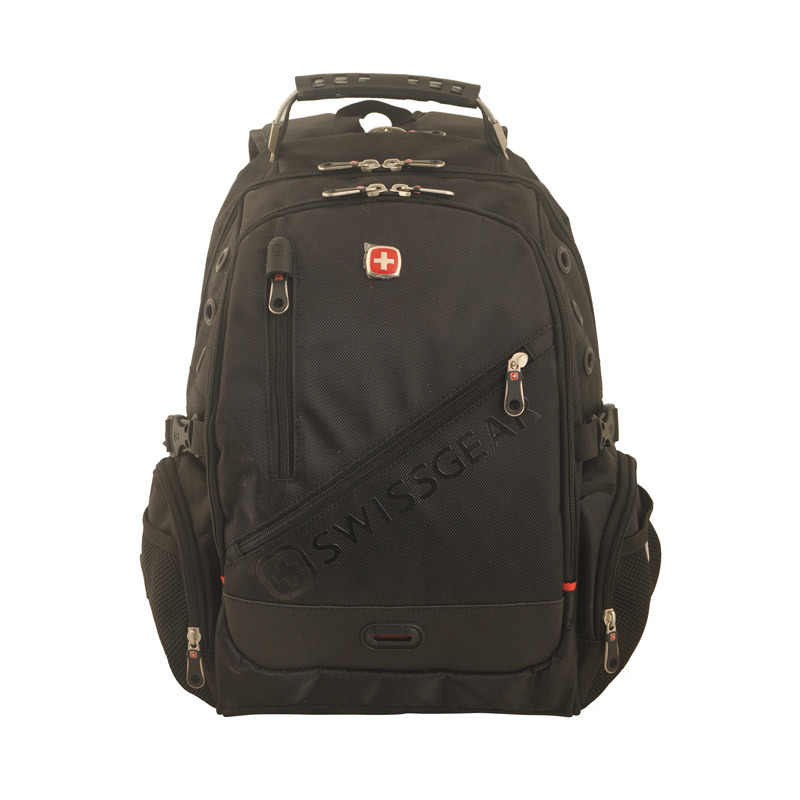Black Computer Backpack with 1680 D and Swiss Gear Design