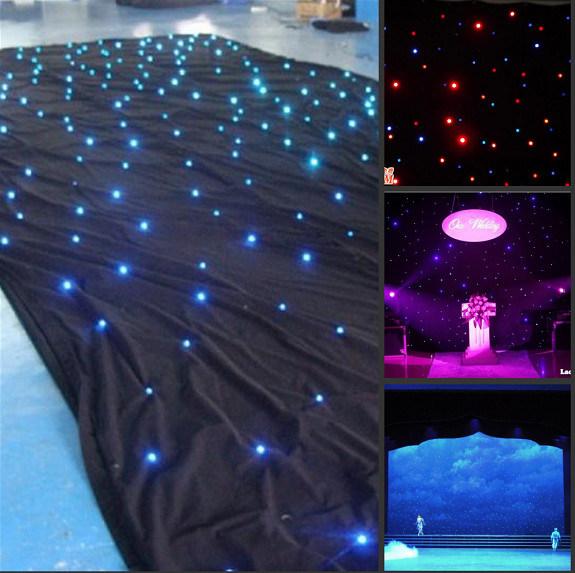 High Quality LED Star Curtain RGBW