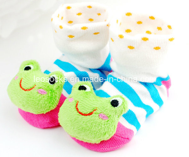 2017 Hot Sale 3D Anti-Slip Fancy Cotton Baby Socks