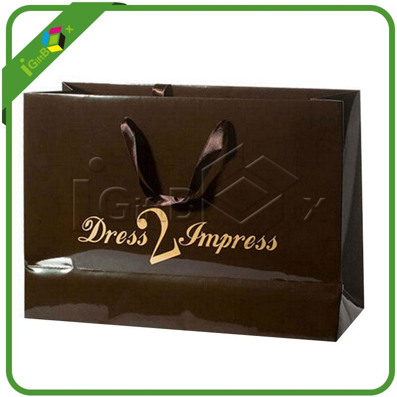 Luxury Paper Shopping Gloss Bags with Printing