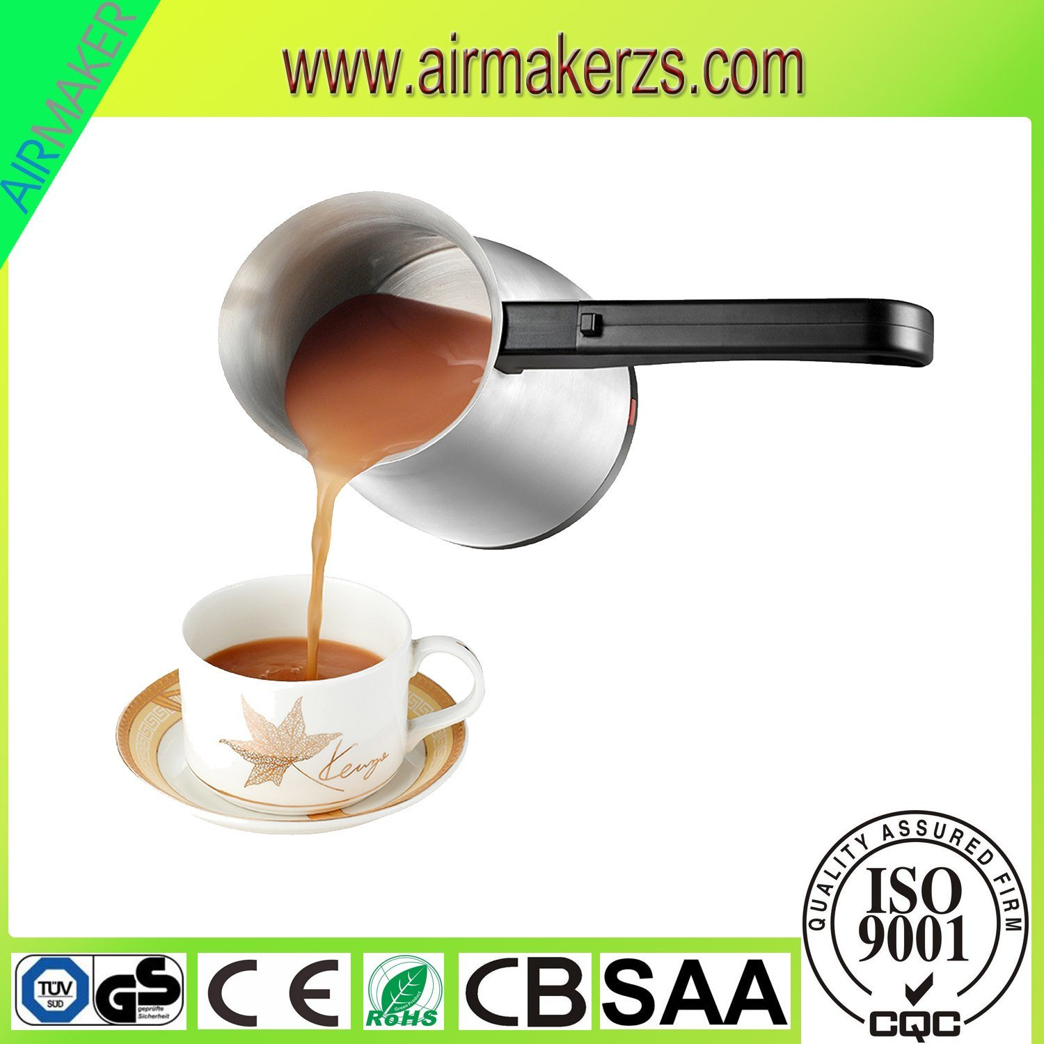 0.3L Portable Turkish Coffee Maker with Switch Power Base Removable
