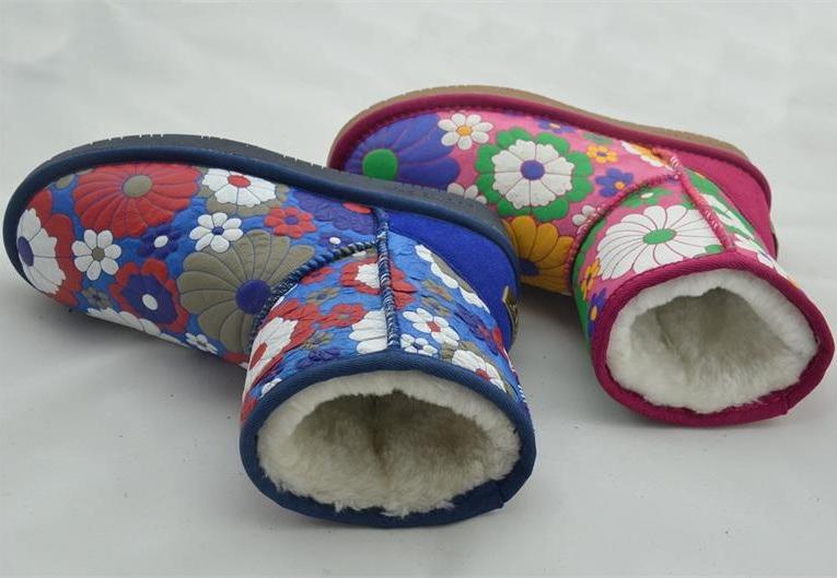 Lady Fashion Leathr Warm Snow Boots (FB-80515)