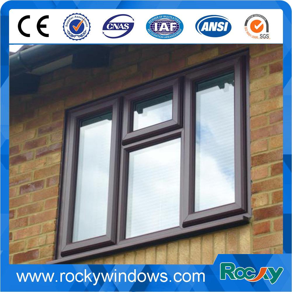 Wood Grain Color Design with Reasonable Price PVC Windows