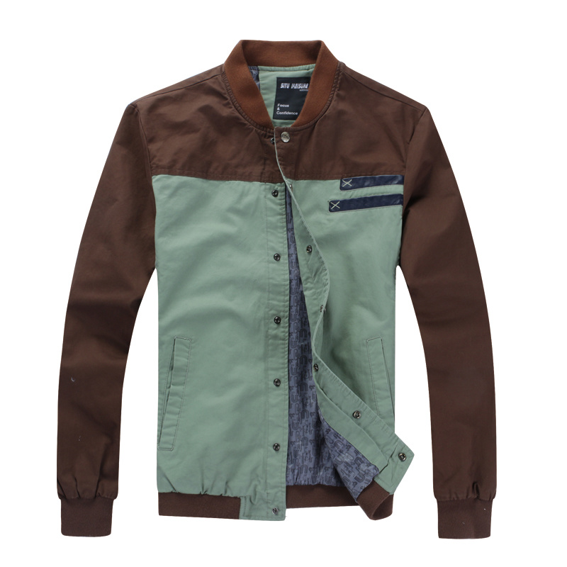 Men Fashion Casual Contrast Color Jackets (2090)