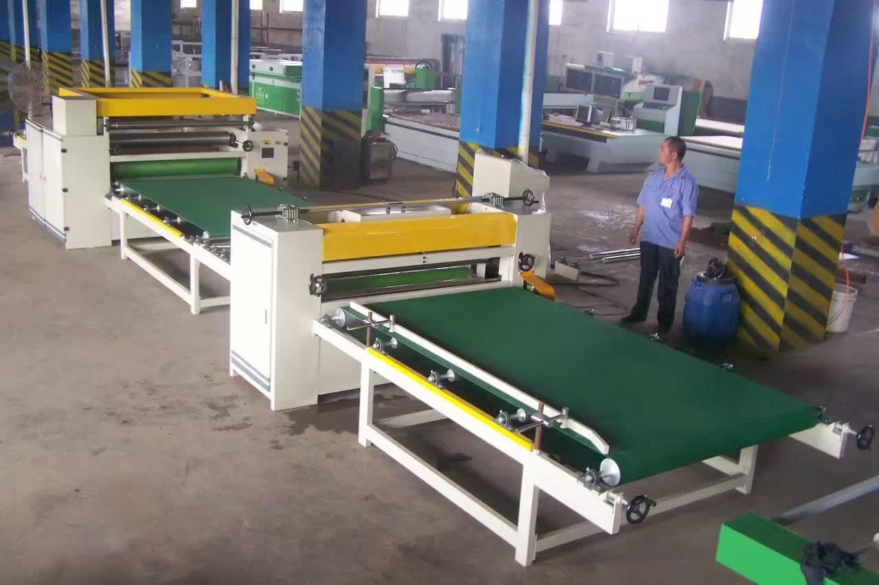 Woodworking Automatic PVC or Paper Laminating Line