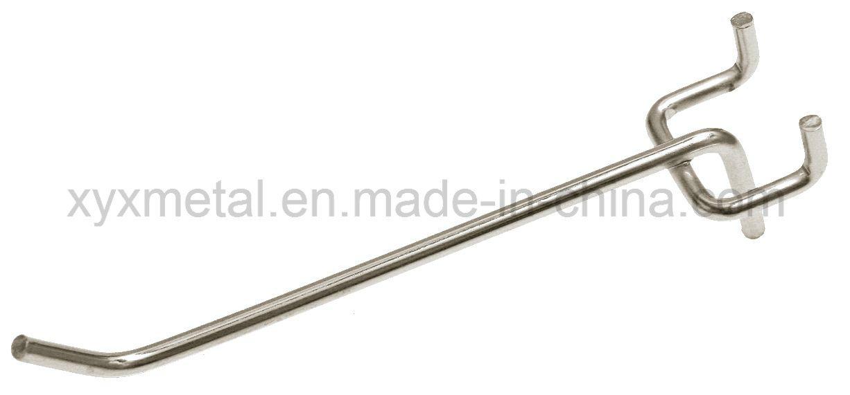Shopfitting Chrome Metal Steel Slatwall Pegboard Accessories Wire Display Hook