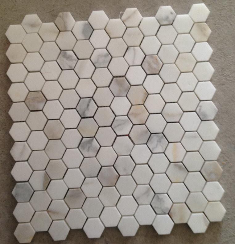 China Calacatta Marble Stone Mosaic s &