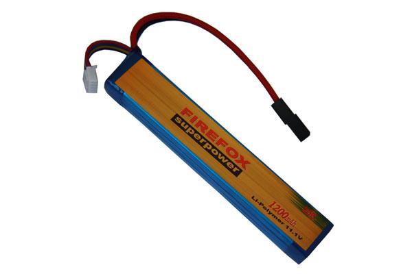 Firefox 11.1V 1200mAh Lipo Li-Po Li-Polymer Tactical Battery 20c
