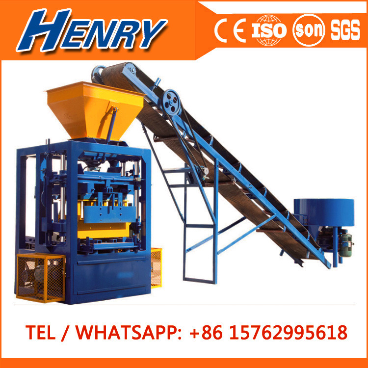 Qt4-24 Most Popular Simple Vibrated Concrete Cement Brick Block Making Machine Price Guinea