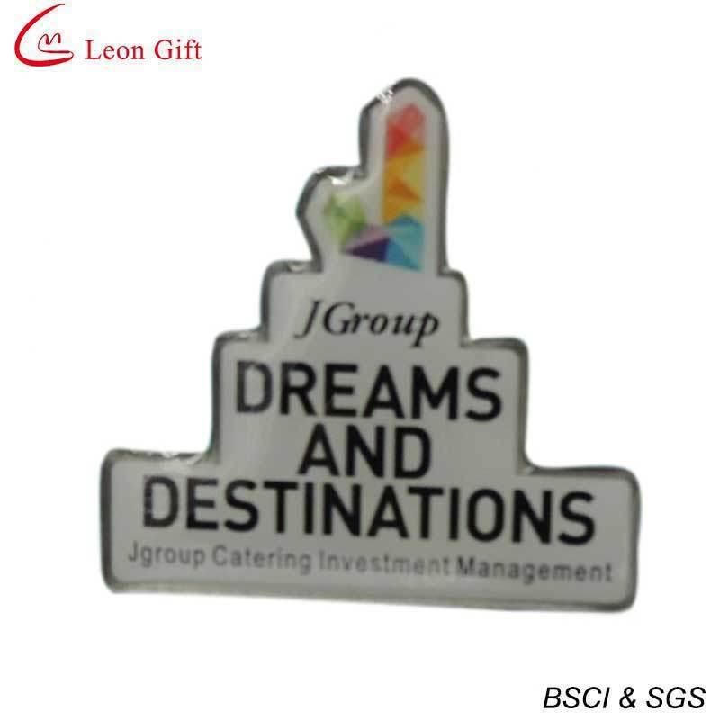 Custom Logo Offset Print Lapel Pin (LM1044)