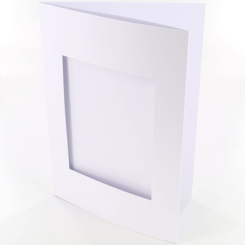 Blank Greeting Card, C6 White and Aperture