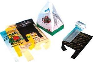 HDPE Clear Plastic Saddle Bag