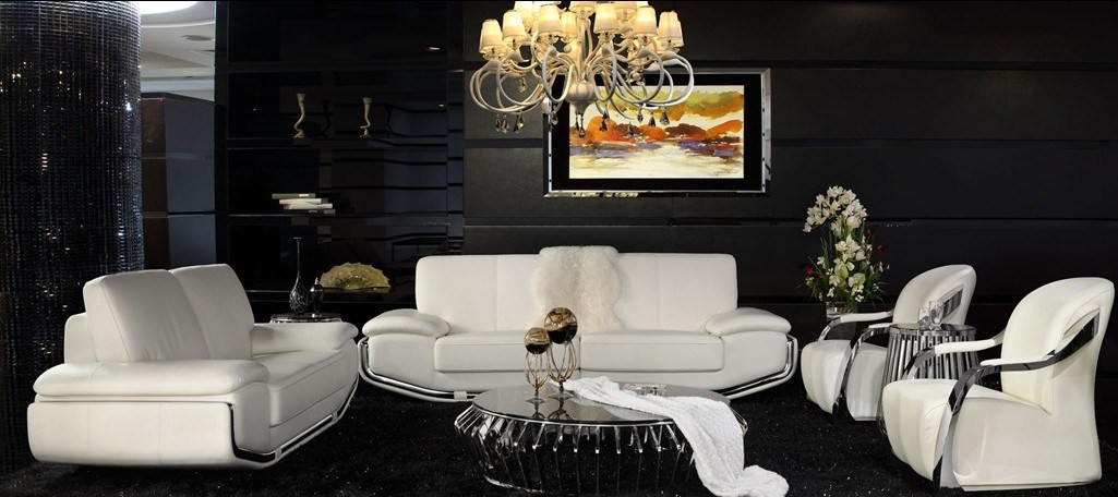 White Color Luxury Furniture Set Al345