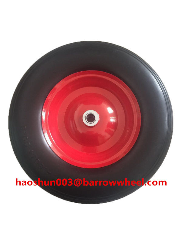 400-8 Solid Flat Free PU Foam Wheel for Wheel Barrow