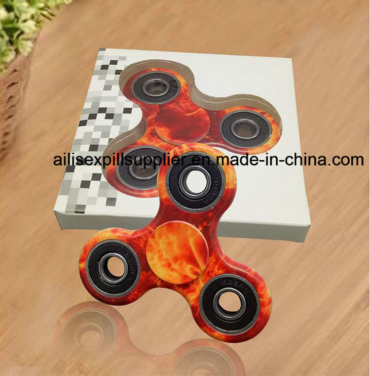 Factory Price 2017 Hot Sale Painted Plastic Metal EDC Fidget Spinner Hand Spinner