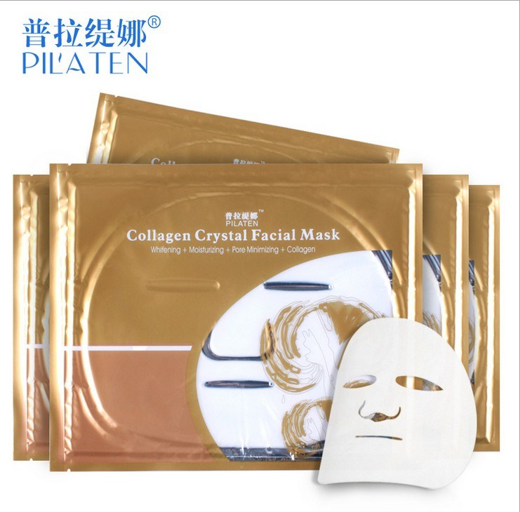Pilaten Collagen Crystal Facial Mask Whitening Moisturizing Pore Minimizing Collagen Skin Care Face Mask