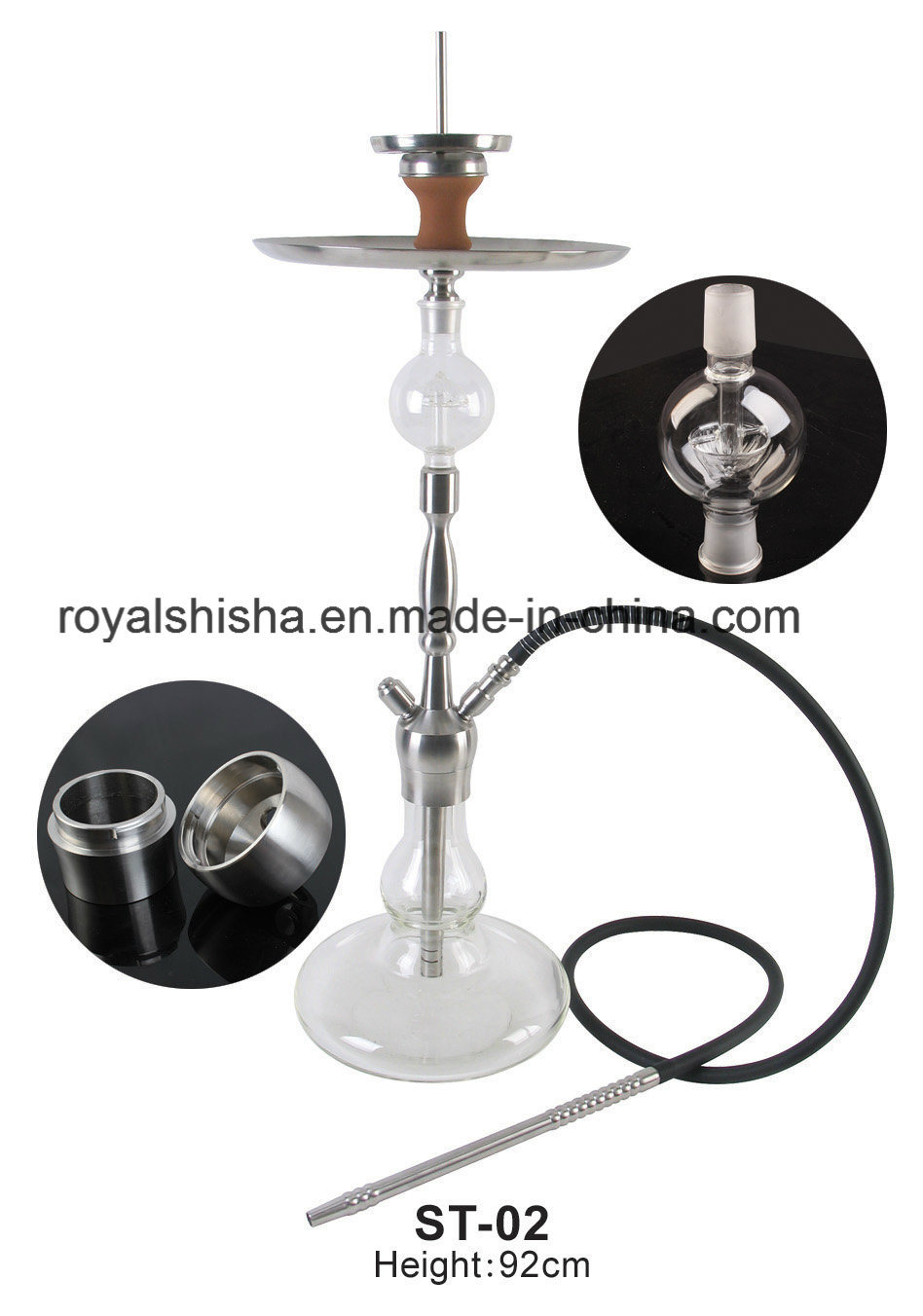 Wholesale Smoking Pipes Newest Stainless Steel Narguile