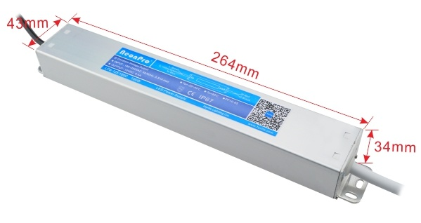 12V 100W Waterproof Slim Size LED Driver with Bis