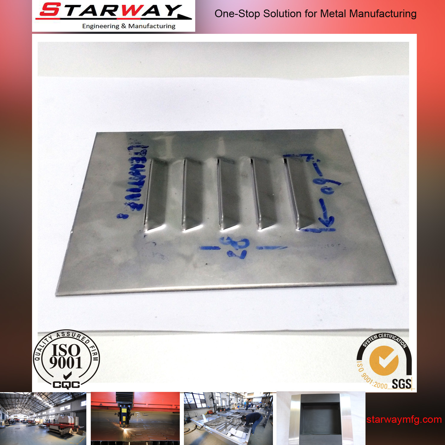 Metal Fabrication Stainless Steel Laser Cutting