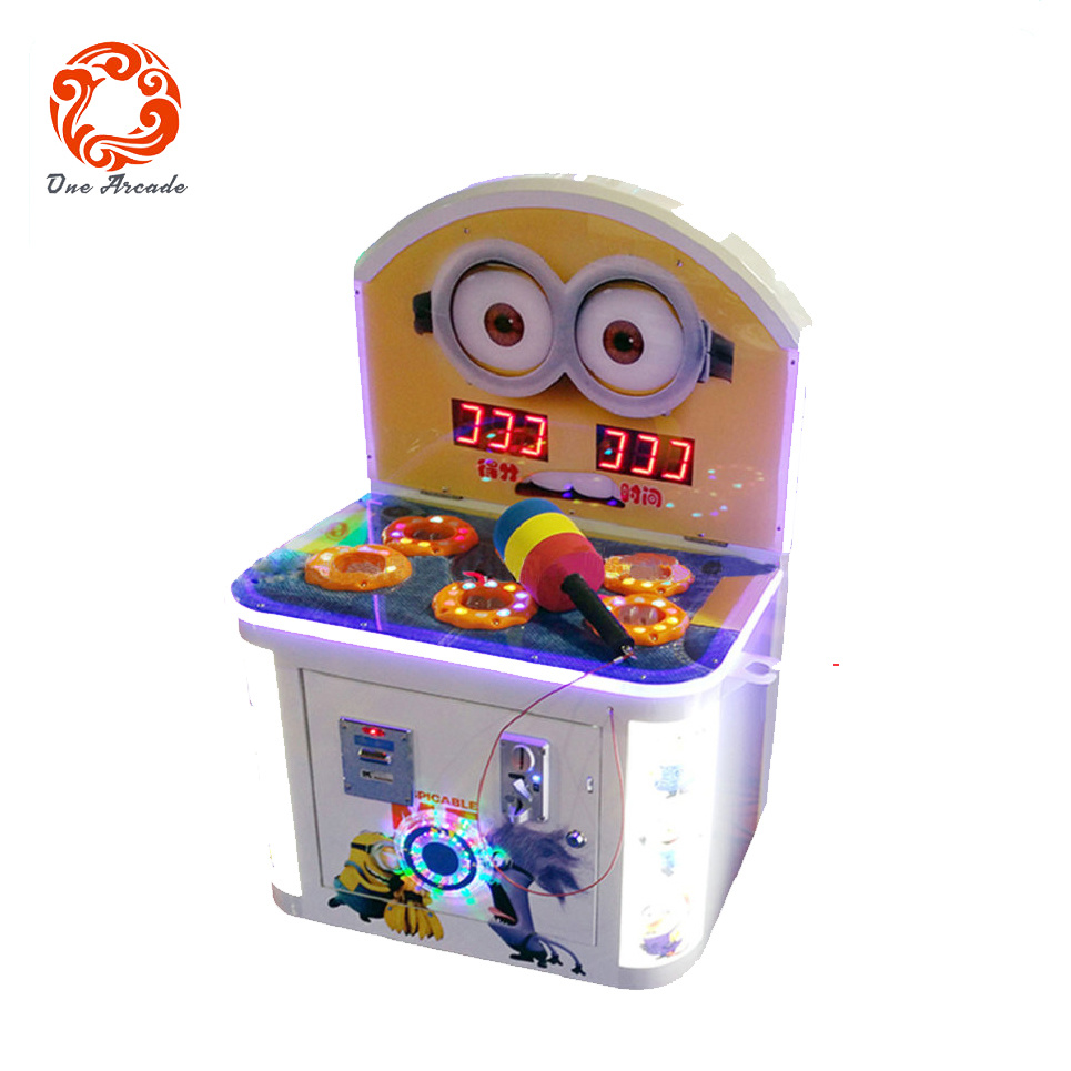 Coin Operated Minions Kid Hitting Game Machine Whack-a-Mole for Sale