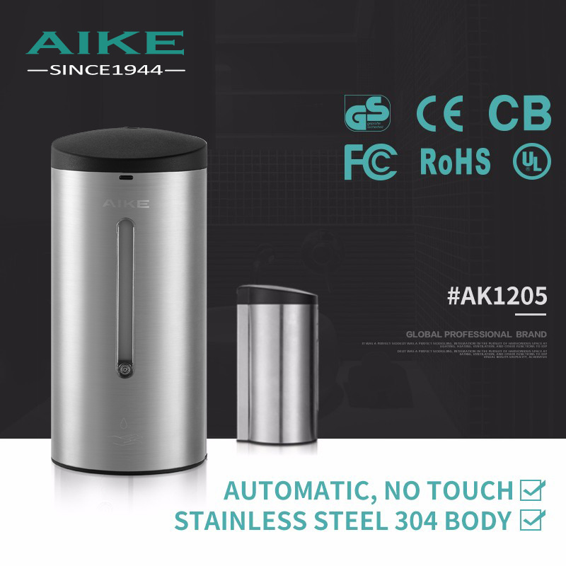 AK1205 Toilet Accessory Commercial Stainless Steel Sensor Wall Mounted Automatic Liquid Hand Soap Dispenser