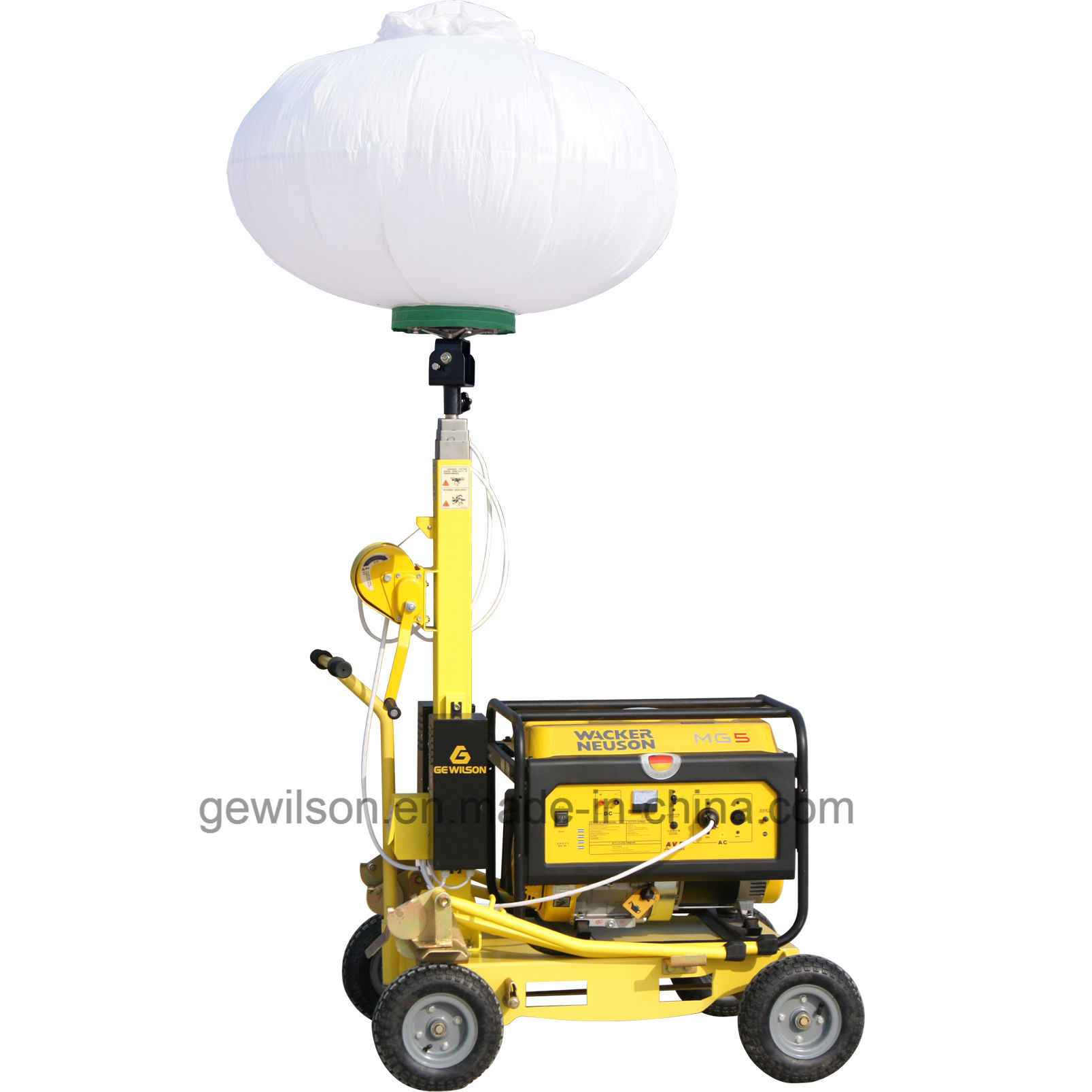 New Arrival Gasoline/Petrol Mobile Light Tower with balloon Light