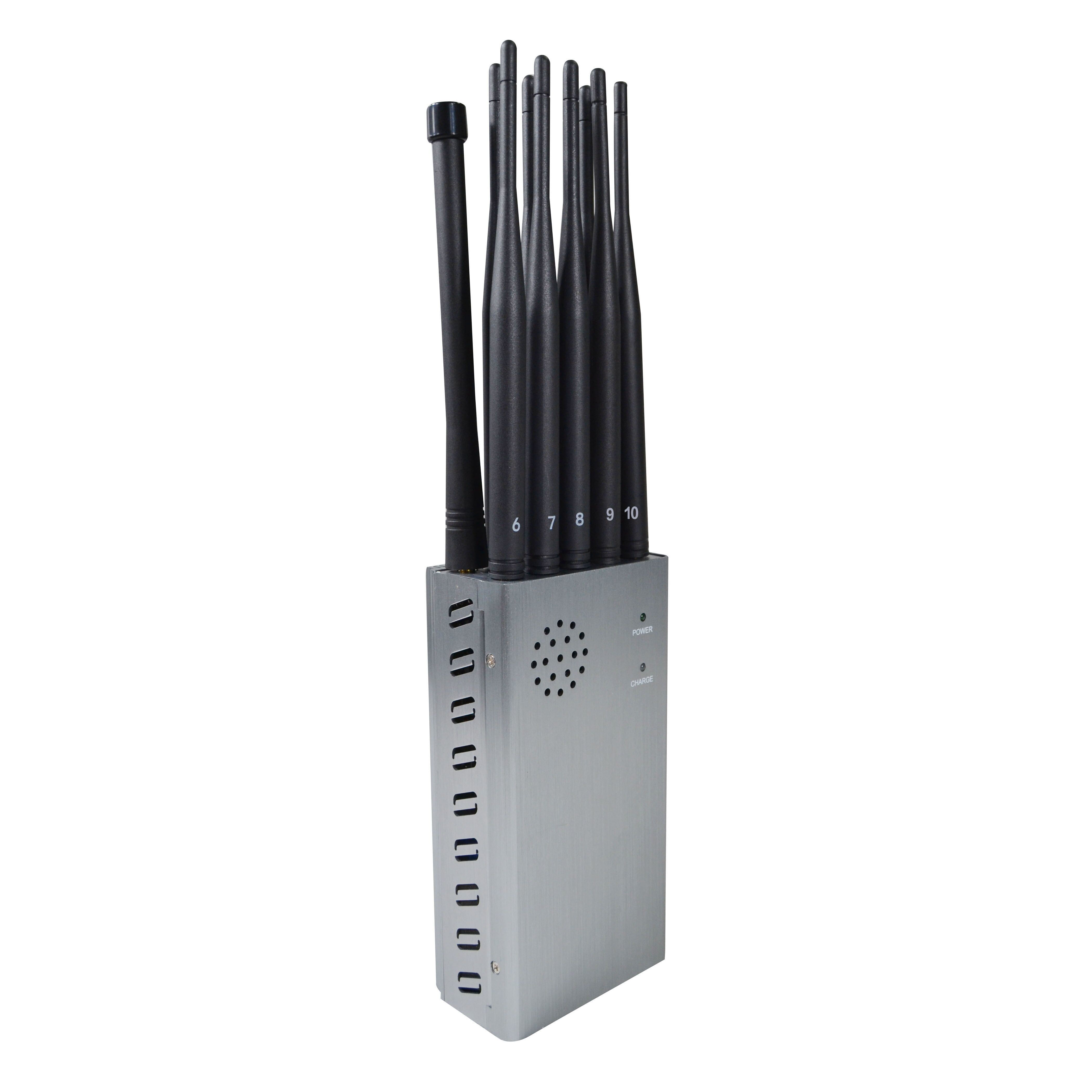China High Power with 8000mA Battery Portable Jammers with Full Band 10 Antennas Including 2g 3G 4G WiFi GPS Lojack 5g and Remote Control Jammer - China Mobile Phone Jammer, Full Band Signal Blockers