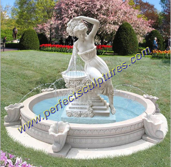 Water Garden Fountain for Garden Stone Sculpture (SY-F102)
