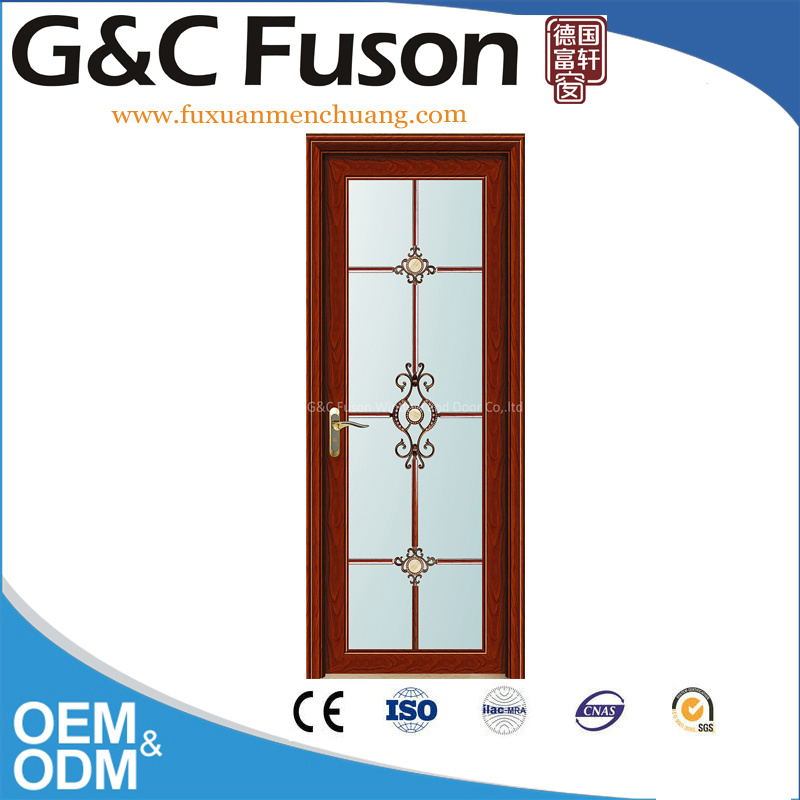 Hollow Design Aluminum Casement Thermal Break French Door (FX-15113)