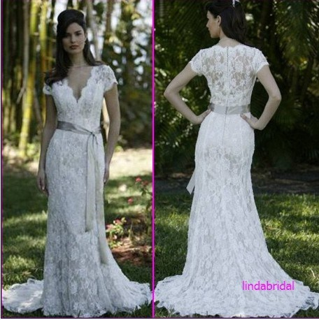 Long Sleeve Lace Dress on Short Sleeve Wedding Dresses Cheap Short Sleeve Wedding Dresses