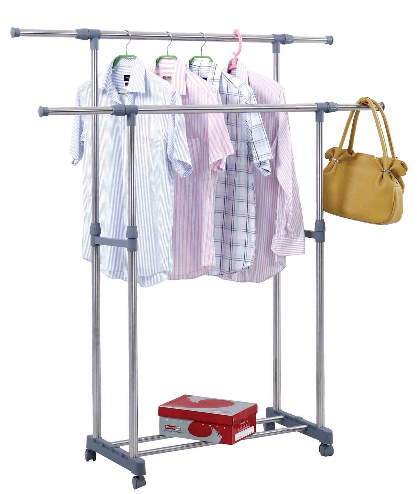 China Retractable Clothes Rack Stainless Steel Clothes