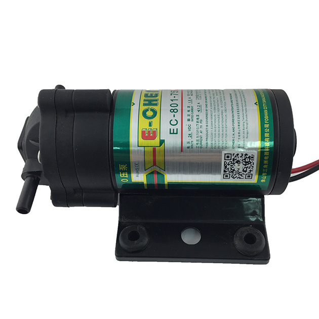 E-Chen The Smallest Diaphragm RO Booster Pump 801 Series 75gpd - for 0 Inlet Pressure