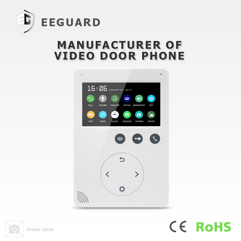 Memory Interphone 4.3 Inches Doorbell Intercom Video Door Phone with Recording