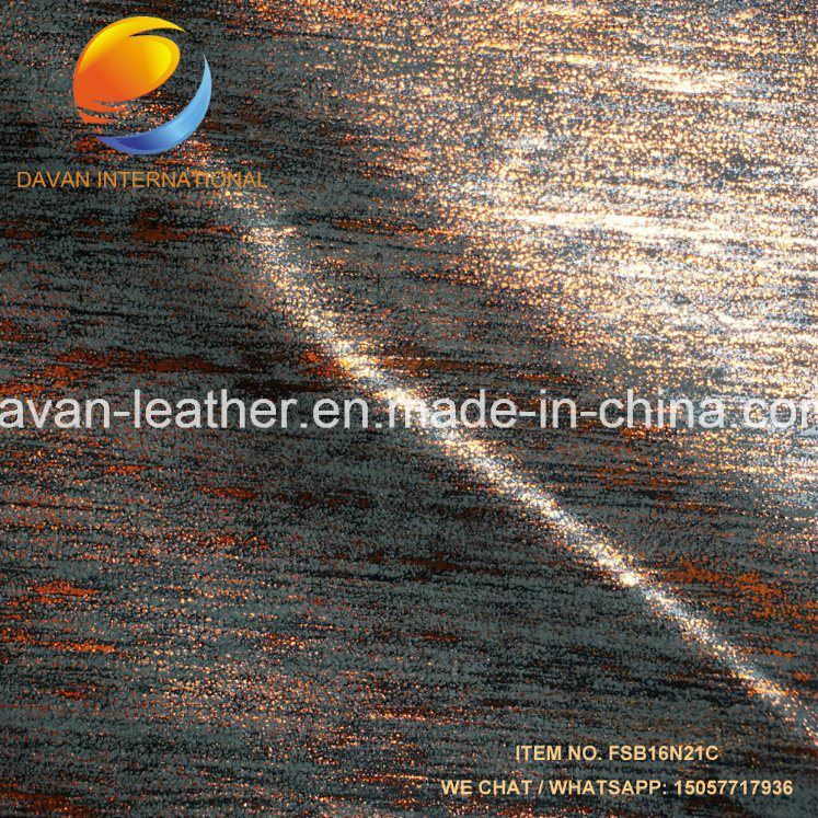 Synthetic Leather Yumbuck Metalic Surface for Lady Shoes