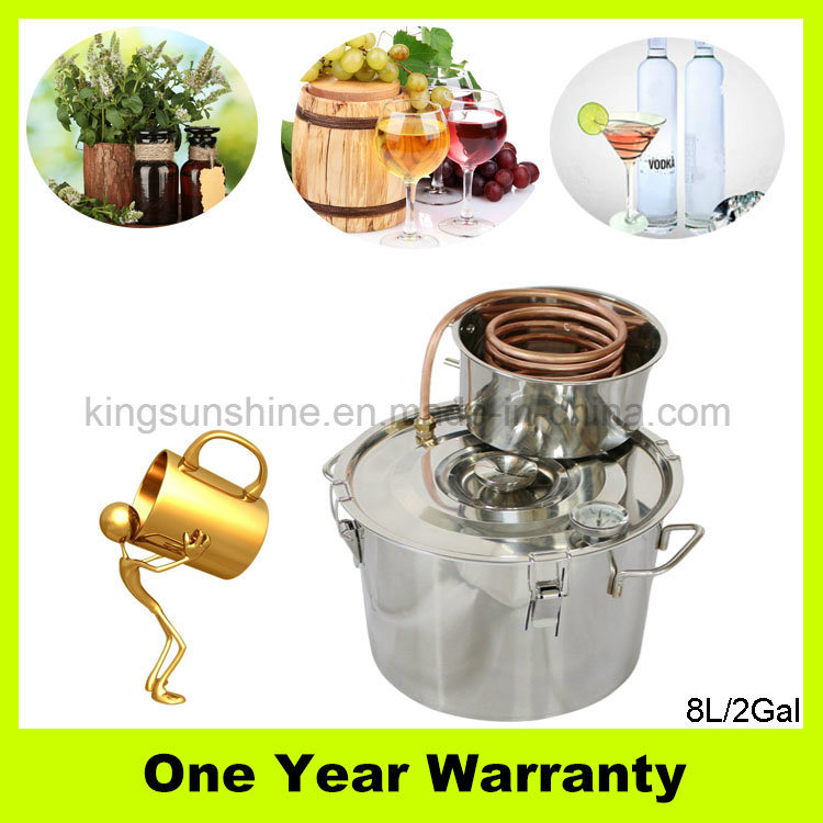 Kingsunshine 8L/2gal Home Brew Equipment Stainless Steel Water Distiller with Good Price