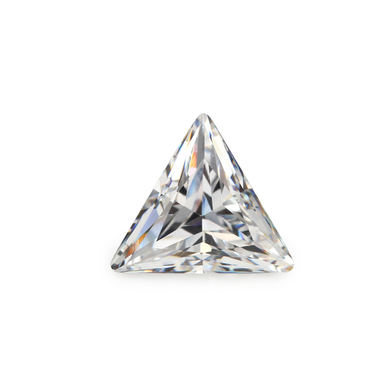 Factory Wholesale Cut Cubic Zircon Triangle Cubic Zirconia Price